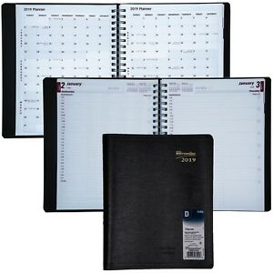 2019 Brownline Cb965 blk Daily Planner Appointment Book 8 1 2 X 11