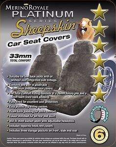 Ford Falcon All Models 2000 on 33mm Tc Platinum Range Sheepskin Car Seat Covers