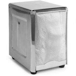 Spring load Stainless Steel Low fold Napkin Dispenser For Restaurants