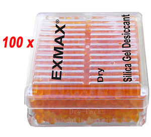 100 Pcs Pro Reusable Silica Gel Desiccant Moisture Absorb For Camera Closets