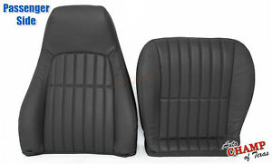 2000 2002 Chevy Camaro Ss Rs Z28 Passenger Complete Leather Seat Covers Black