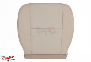 2011 2012 Chevy Avalanche Ls Lt Z71 driver Side Bottom Cloth Seat Cover Tan