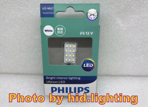 Philips 6000k Reading Light White Led 12smd T10 W5w Ba9s Festoon 31mm 36mm 12957