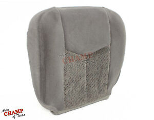 2005 2006 Chevy Avalanche 1500 2500 Driver Side Bottom Cloth Seat Cover Gray