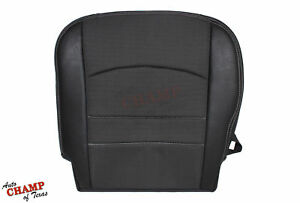 2009 2012 Dodge Ram 1500 Sport Driver Side Bottom Cloth Leather Seat Cover Black