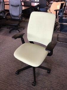 Executive Chair By Steelcase Amia In Lime Green Color fully Loaded 2009