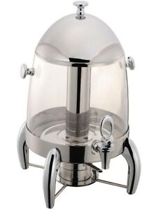 Stainless Steel Heavy Duty Cold Hot Juice Drink Dispenser With Center Ice Core