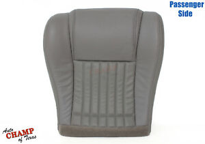 1996 Pontiac Firebird Trans Am Passenger Side Bottom Leather Seat Cover Gray