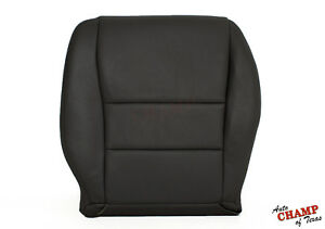 2004 2005 Honda Accord 4dr Ex Se Lx Driver Side Bottom Leather Seat Cover Black
