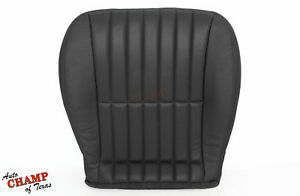 2000 2002 Chevy Camaro Ss Rs Z28 driver Side Bottom Leather Seat Cover Black