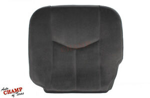 2004 2005 Gmc Sierra 1500 Sle Z71 driver Side Bottom Cloth Seat Cover Dark Gray