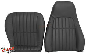 2000 2002 Chevy Camaro Ss Rs Z28 driver Side Complete Leather Seat Covers Black