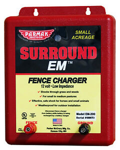 Parker Mccrory Em 200 Surround Em Electric Fence Charger 5 mile Uses 12v