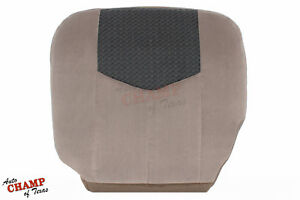 03 04 Chevy Avalanche Driver Side Bottom Cloth Seat Cover Tan W Graphite Insert