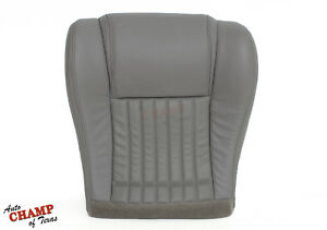1996 Pontiac Firebird Firehawk Ws6 Driver Side Bottom Leather Seat Cover Gray