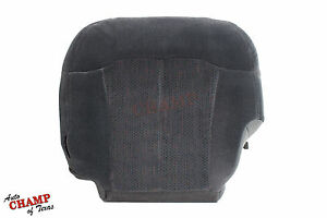 1999 2000 Chevy Silverado 1500 Ls Hd driver Side Bottom Cloth Seat Cover Dk Gray