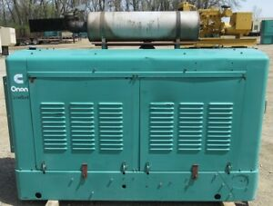35 Kw Onan Ford Natural Gas Or Propane Generator Genset Load Bank Tested