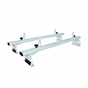 Aluminum 2 Bar 50 Van Roof Ladder Rack White Fit Chevy City Express 2013 2017