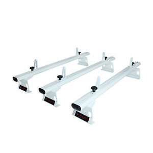 Aluminum 3 Bar 50 Van Roof Ladder Rack White Fits chevy City Express 2015 on