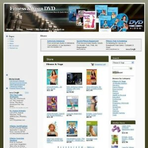 Health Fitness And Yoga Dvd Online Business Website Store For Sale Free Domain