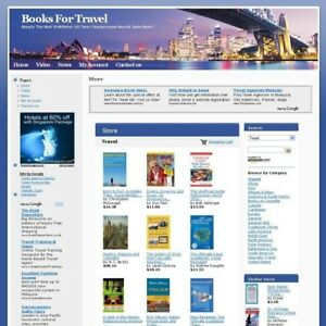 Established Potential Income Of Travel Book Store Business Website For Sale