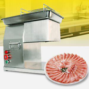 Stainless Commercial Meat Slicer Meat Cutting Machine Cutter 110v 260kg hour
