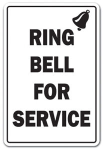 Ring Bell For Service Sign Office Building Employer Employee Work 14
