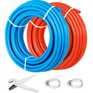 1 2 X 100ft Pex Tubing Nonbarrier 2 Rolls Pipe Pex b Applications Red Blue