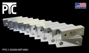 6x2x1 5 Aluminum Soft Jaws Fits 6 Kurt Vises 10 Pack Free Shipping