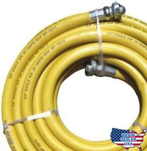 Jgb Eagle Yellow Jackhammer Rubber Air Hose 3 4 Universal chicago Couplings