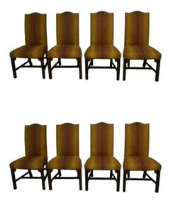Henkel Harris Solid Mahogany Set Of 8 Dining Chairs Model 125s
