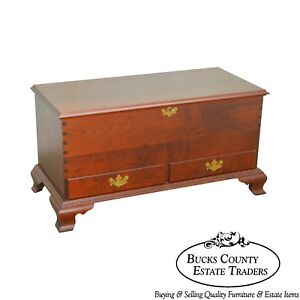 Marshall James Custom Crafted Solid Cherry Chippendale Style Blanket Chest