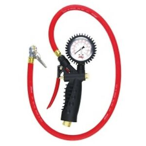 Analog Inflator Gauge With Ball Foot Air Chuck Clip Mil573a Brand New