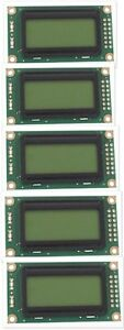 5 Lot 8 character X 2 line Lcd Module Character Display Screen Green Backlight