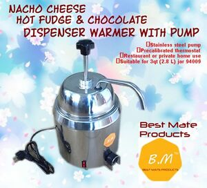B m Gm 280hot Fudge Nacho Cheese Dispenser Warmer With Pump Stainless Steel Can