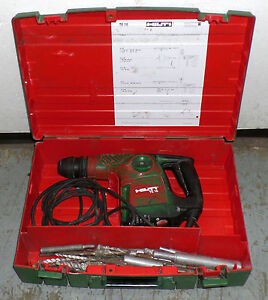 Hilti Te 16 Electric Rotary Hammer Drill With 19 Bits And Attachments