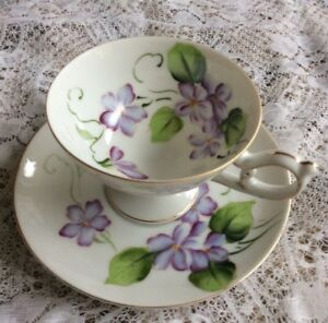 Gift Hand Painted Merii China Tea Cup And Saucer Set Made In Japan