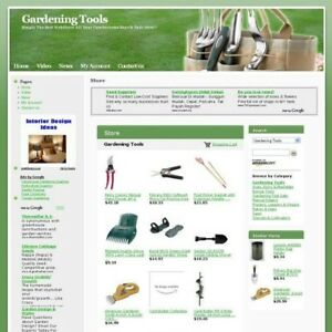 Established Gardening Tools Online Store Business Website For Sale Free Domain