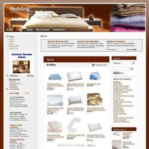 Established Bedding Store Online Business Website For Sale Work At Home Today