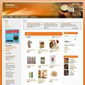 Established Grains Online Business Website Store For Sale Potential Home Income