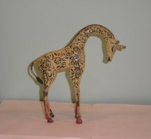 Rare Vintage Bronze Giraffe Austria Cold Painted Sculpture Figurine Heavy 8