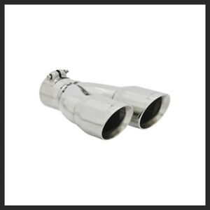Flowmaster Polished Stainless Exhaust Tip 2 1 2 Inlet 3 Inch Out 15390