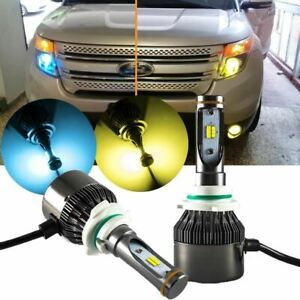9005 Hb3 Yellow Blue Dual Color Led Headlight Kit For Ford F150 Explorer Escape