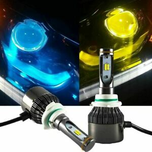 9006 Hb4 High Power Yellow Blue Dual Color Led Low Beam Headlight Bulbs Kit