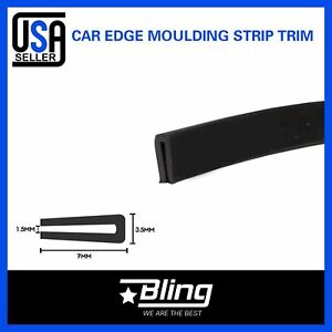 20 Rubber Trim Seal 1 4 X1 8 Black Molding Strip Car Auto Door Edge Protector