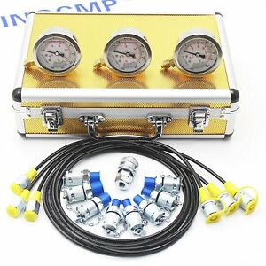 Sinocmp Hydraulic pressure gauge Test Kit Excavator Diagnostic Tool 2 Year Wty