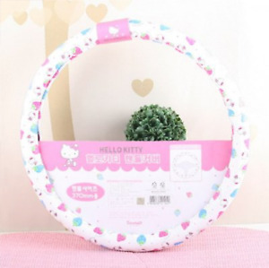 Hello Kitty Strawberry Steering Wheel Cover Subcompact Car 14 5oz 37cm