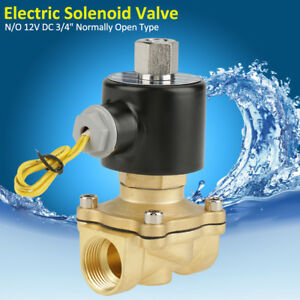 12v Dc 3 4 N o Normally Open Electric Solenoid Valve For Water Air 2w200k 20 Im