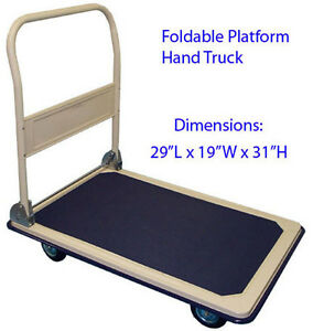 Heavy Duty 330lbs Foldable Platform Hand Truck Cart Dolly