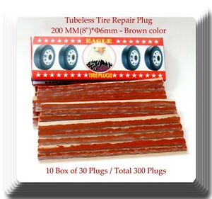10 Boxes Of 30 Trucks Seal Tire Repair Plugs Self Vulcanizing Tubeless 8 X 1 4